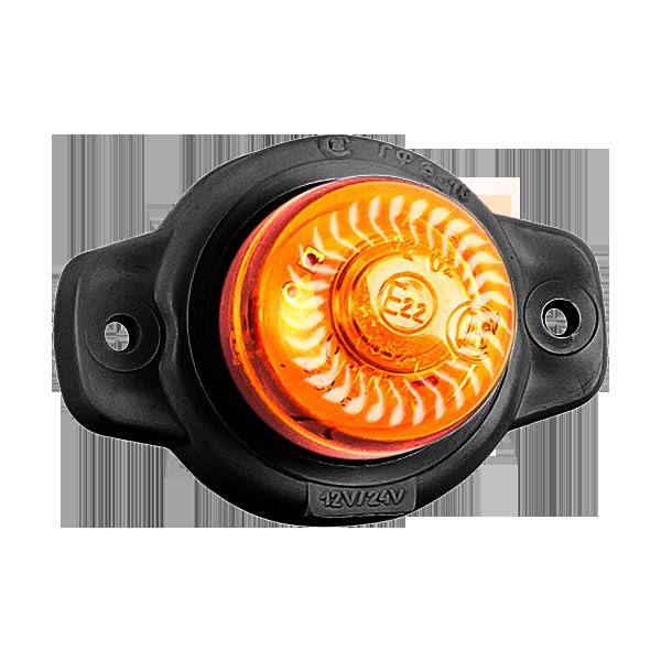 ГФ 3.18 LED2 «Шайба» оранжевый (рассеиватель хрусталик)
