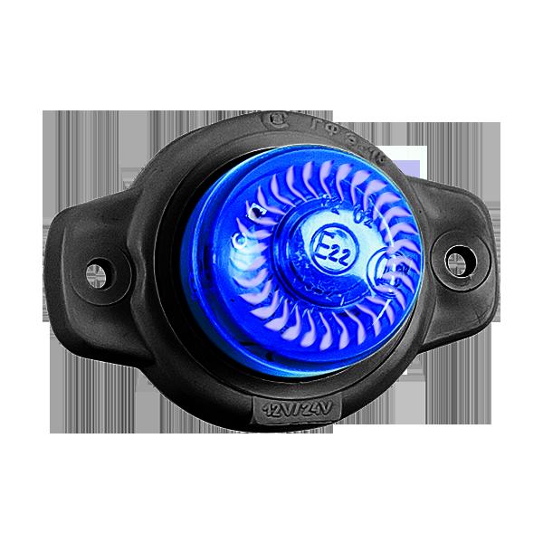 ГФ 3.18 LED2 «Шайба» синий (рассеиватель хрусталик)
