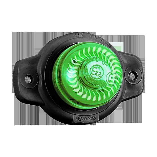 ГФ 3.18 LED2 «Шайба» зеленый (рассеиватель хрусталик)